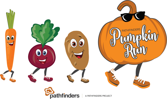pumpkin run logo with no year