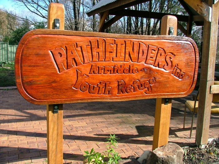 Pathfinders Inc sign by Jeremy